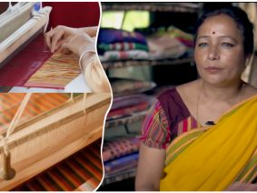 Woman entrepreneur from Kaziranga gives plastic recycling a new face on the traditional loom